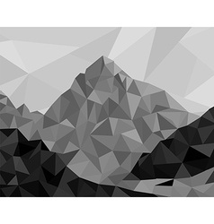 mountain low poly vector image vector image