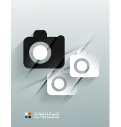 Photo 3d paper design vector image