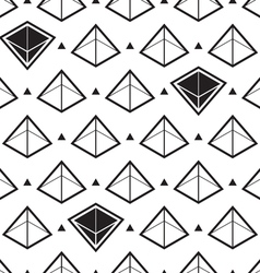 Pyramid isometric pattern vector