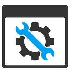 Settings Tools Calendar Page Toolbar Icon vector image