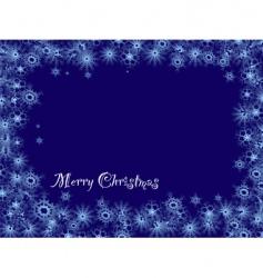snowflake Christmas vector image
