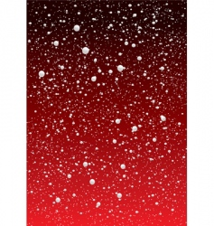 snowflake red sky vector image