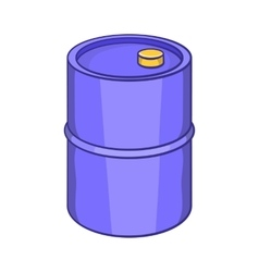 Barrel for gasoline icon cartoon style vector