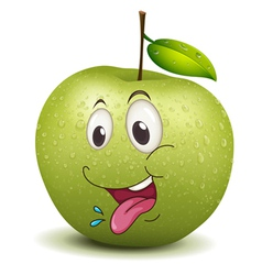 Hungry apple smiley vector