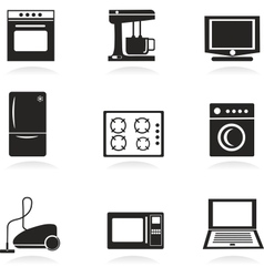 Home electrical appliances set vector