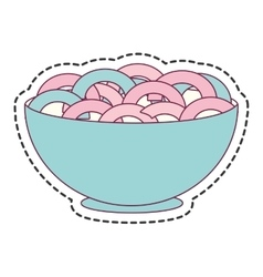 Cereal dish isolated icon vector