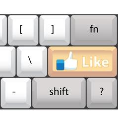 Like key on computer keyboard vector