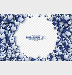3d like hand icons abstract background vector