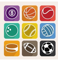 Set with sport balls vector