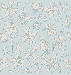 light flowers seamless pattern vector image