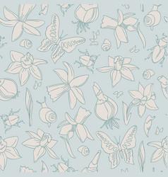 Light flowers seamless pattern vector