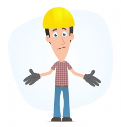 Embarrassed builder vector