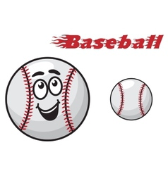 Baseball cartoon ball vector image