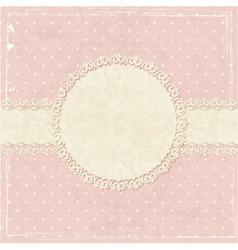 Pink vintage grunge background vector