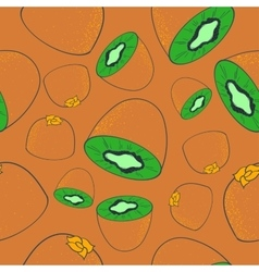 Seamless pattern with kiwi vector
