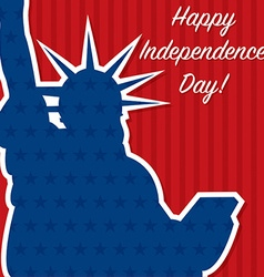 Liberty independence day card in format vector