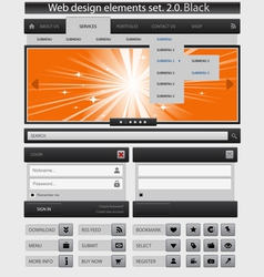 creative web design elements set vector image