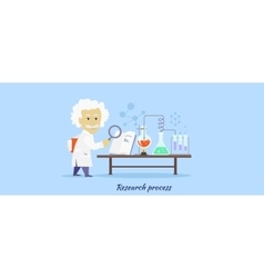 Research Process Icon Flat Design vector image
