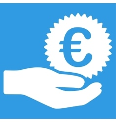 Euro prize offer icon vector