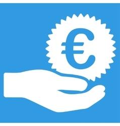 Euro prize offer icon vector