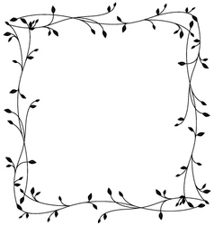 Frame with floral ornament on a white background vector