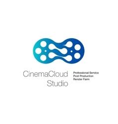Logo for cinema cloud studio computing vector image