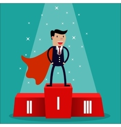 Cartoon super businessman vector