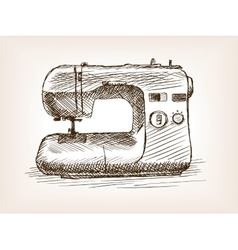 Sewing machine sketch style vector
