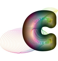 Abstract colorful letter c vector