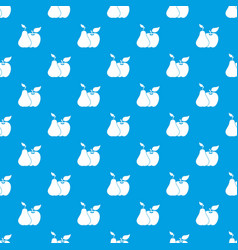 apple and pear pattern seamless blue vector image