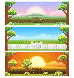 backyard cartoon background set vector image