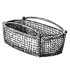 Basket a woven basket made from a range of vector