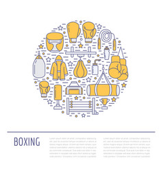boxing poster template sport training vector image