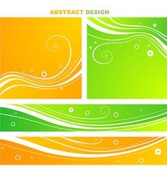 Bright abstract floral background vector