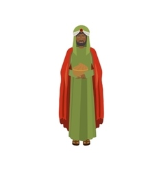 Brunnette wise man with offering vector
