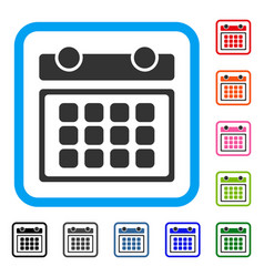 calendar month framed icon vector image vector image