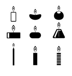 Candles icon vector image