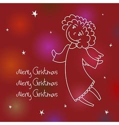 Christmas angel card3 vector