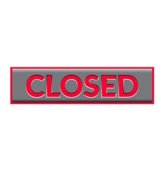Closed sign neon vector