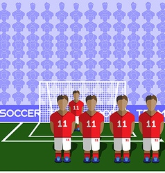England Soccer Club Penalty on Stadium vector image vector image