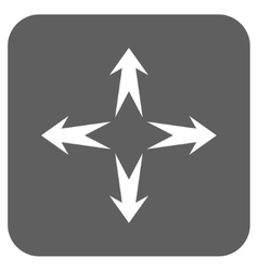 Expand arrows flat squared icon vector