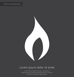 fire premium icon white on dark background vector image vector image