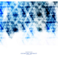 Geometric technological blue triangle abstract vector