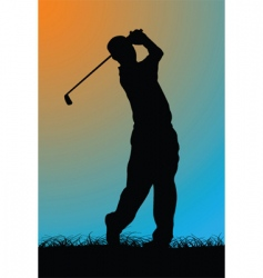golfer vector image vector image