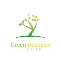green business logo vector image
