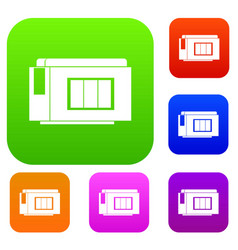 Inkjet printer cartridge set collection vector