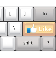 Like key on computer keyboard vector image vector image