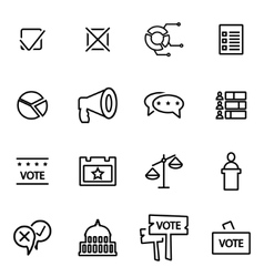 line election icon set vector image vector image