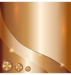 Metal copper background vector
