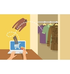 Online shopping men clothes concept vector image